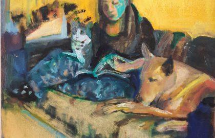 """""""בסבך זכרונות""""  תערוכת יחיד של פנינה ביגץ בבית האמנים בתל אביב"""