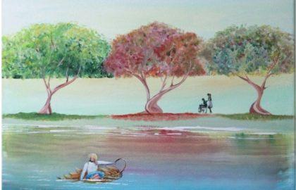 """סיכום הוליסטי – בתערוכת יחיד של גדליהו הורטיג """"מסעות רוחניים"""""""