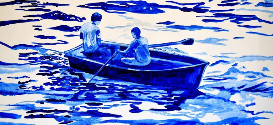 """""""הכחול הגדול"""" תערוכת עבודות של לימור מזוז"""