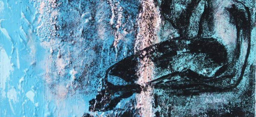 """""""לפתע מלאכים- אינטרמצו"""" -תערוכת ציורים של ללה מיגירוב בתל אביב."""